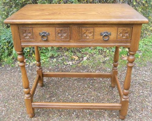 Antique Style Oak Side Table